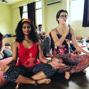Rishikesh yogpeeth, yoga school, yoga, rishikesh, green tara wellness, 200 hour yoga teacher training, meditation, finger to tongue, laughs