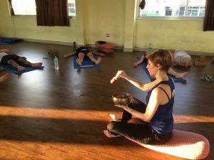 Rishikesh yogpeeth, yoga school, yoga, rishikesh, green tara wellness, 200 hour yoga teacher training, meditation, singing bowl, class, yoga, relaxation,