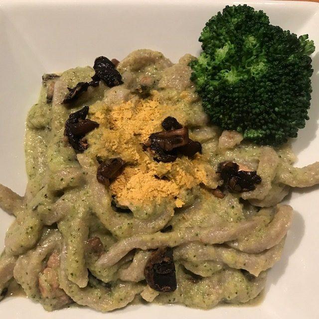 carbonara, vegan, plant based, gluten free, buckwheat, zucchini,