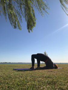 bridge, pose, asana, yoga, how to,